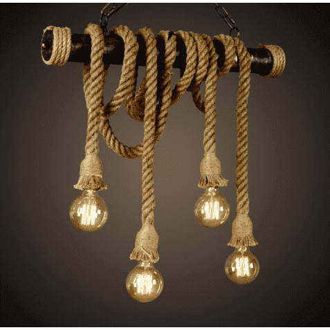 Vintage Double Head Rope Lamp