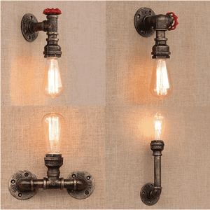 Loft Industrial Retro Pipe Wall Lamps