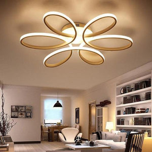 modern led ceiling light white black