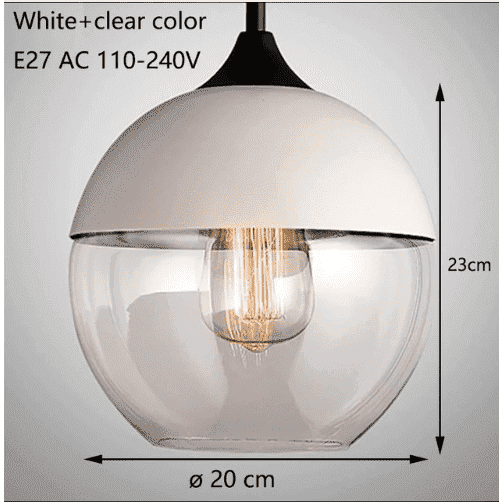 Nordic Modern Glass Pendant Lamp