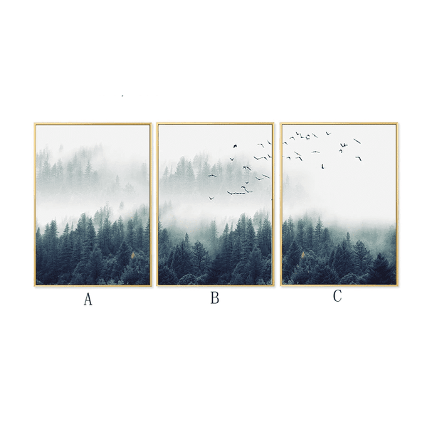 Nordic Forest Landscape HD Canvas Print Wall Art