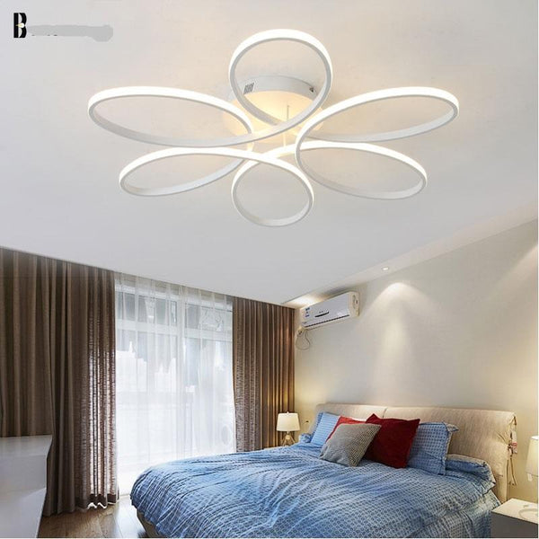 Modern Ceiling Lights in White or Black
