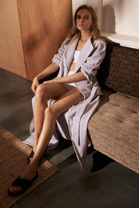 Autumn Afternoon Maple Dressing Gown Lilac Editorial