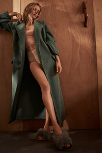Autumn Afternoon Maple Dressing Gown Green Editorial