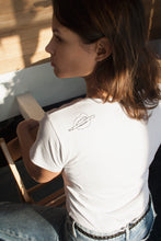 White tee embroidered