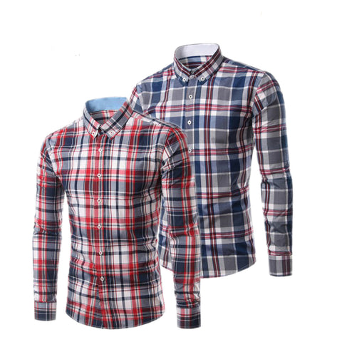 Pack of 2 Branded Slim Fit Checked Casual Shirt