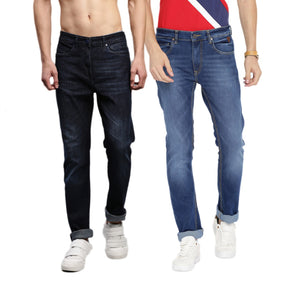 Pack of 2 Slim Fit Blue Stretchable Jeans