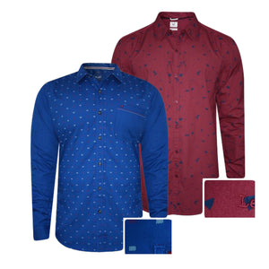 Pack of 2 Slim Fit Premium Quality Printed Casual Shirt