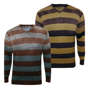 Pack of 2 Striped v Neck Sweaters