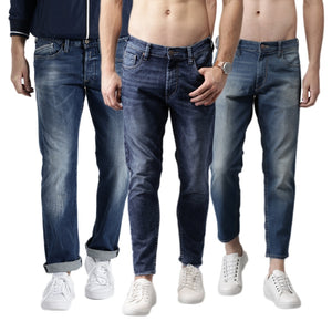 Pack of 3 Cotton Denim Jeans