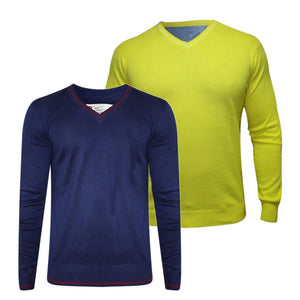 Pack of 2 Branded Solid Sweaters