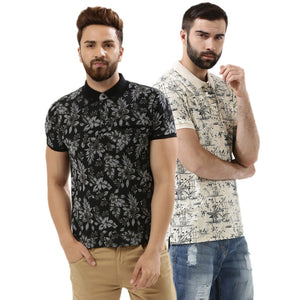 Pack of 2 Premium Quality Casual Printed Tees