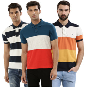 Pack of 3 Premium Quality Casual Striped Tees