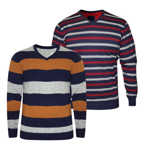 Pack of 2 Branded Striped Sweaters