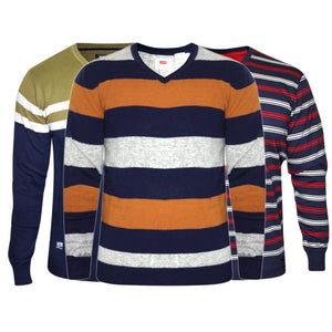 COMBO OF 3 BRANDED STRIPED SWEATERS