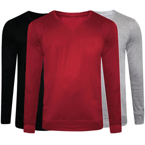 Pack of 3 Branded Solid Sweaters