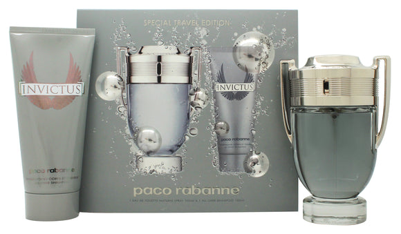 Paco Rabanne Invictus Mens Gift Set 100ml EDT + 100ml All Over Shampoo