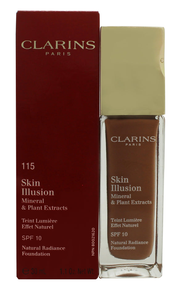 Clarins Skin Illusion Natural Radiance Foundation SPF10 30ml - 115 Cognac