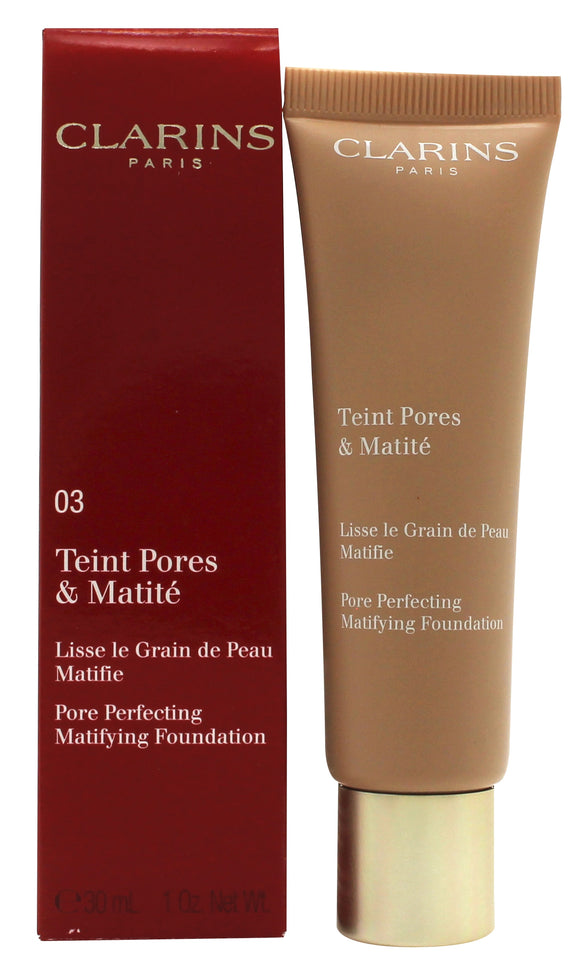 Clarins Pore Perfecting Matifying Foundation 30ml - 03 Nude Honey