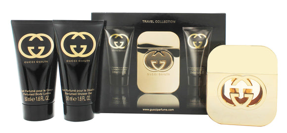 Gucci Guilty for Her Gift Set 50ml EDT + 50ml Body Lotion + 50ml Shower Gel - Travel Collection