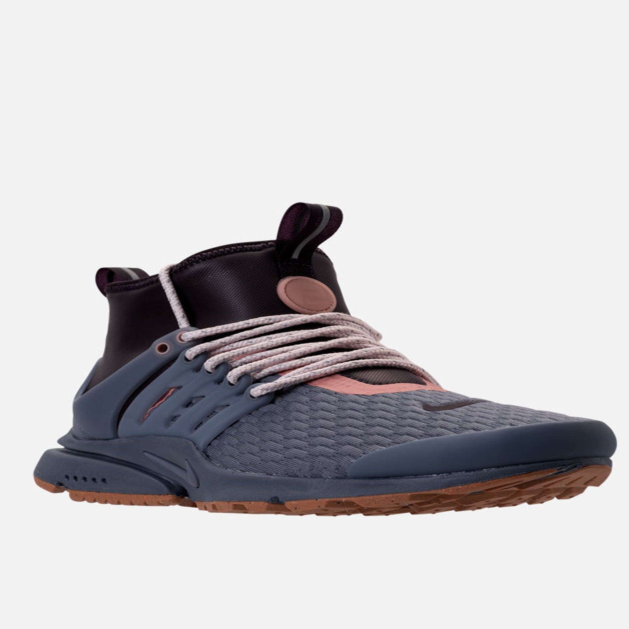 check out 38f36 4e962 Women s Nike AIR Presto MID Utility Premium Casual Shoes Light Carbon Port  Wine Gum