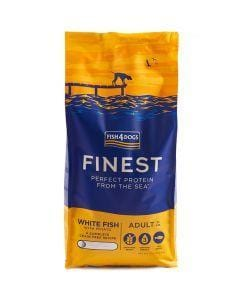 Fish4Dogs White Fish Adult Large Kibble Dog Food 6kg - My Pooch and Co.