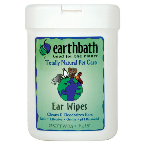 Earthbath Ear Wipes Fragrance Free 25pcs - My Cat and Co.