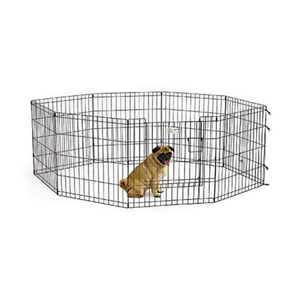 "MIDWEST 24"" Black Exercise Pen With Full MAXLock Door System - My Pooch and Co."