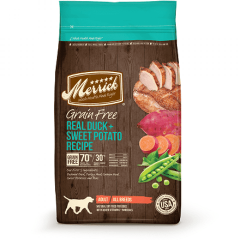 MERRICK Grain Free Real Duck & Sweet Potato Recipe - My Pooch and Co.