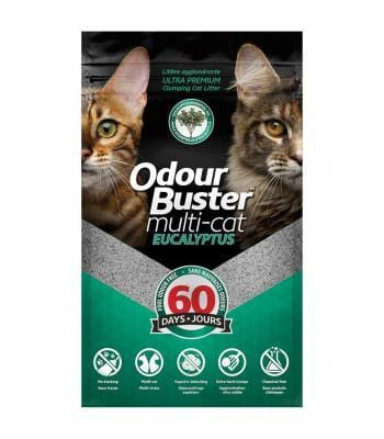 ODOUR BUSTER Multi-cat Litter EUCALYPTUS 12kg - My Cat and Co.