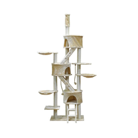 "Go Pet Club Three Condo Cat Tree (48""Wx18""Lx92""x106""H) - My Cat and Co."