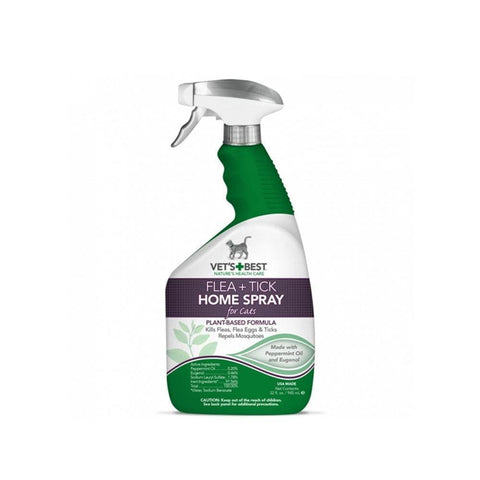 Vets+Best Natural Flea + Tick Home Spray 32oz - My Cat and Co.