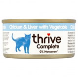 THRIVE Cat Chicken and Chicken Liver with Vegetable 75g - My Cat and Co.