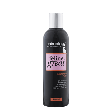 Feline Great Cat Shampoo Peach 250ml - My Cat and Co.