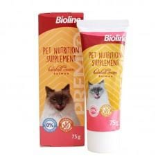 BIOLINE Hairball Supplement Salmon 75g - My Cat and Co.
