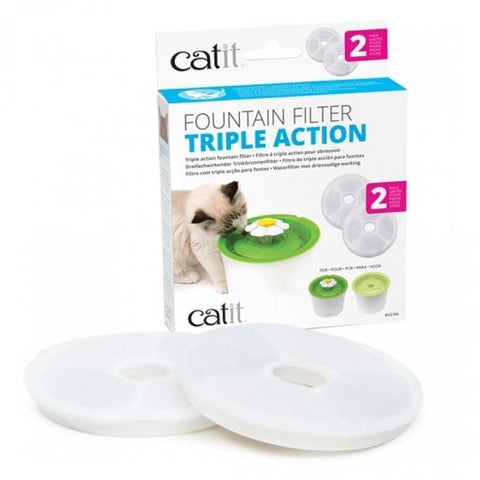 CATIT 2.0 TRIPLE ACTION FILTER (2 Pack) - My Cat and Co.