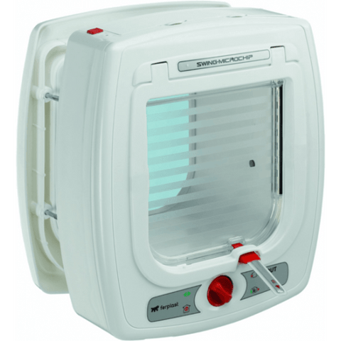 FERPLAST Microchip Cat Flap White - My Cat and Co.