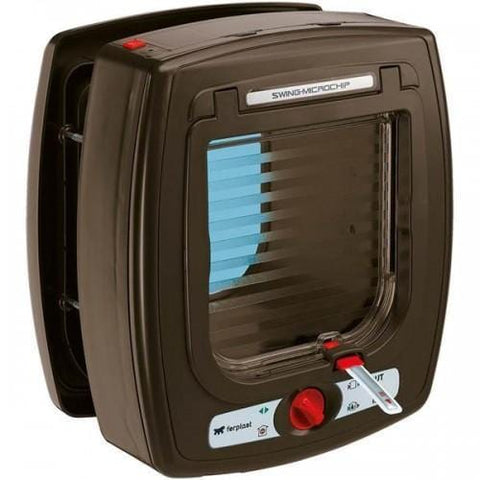 FERPLAST Microchip Cat Flap Brown - My Cat and Co.