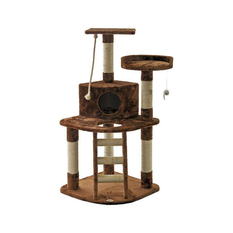 Go Pet Club Cat Tree with Ladder and Rope (Size 81Wx64Lx121H) - My Cat and Co.