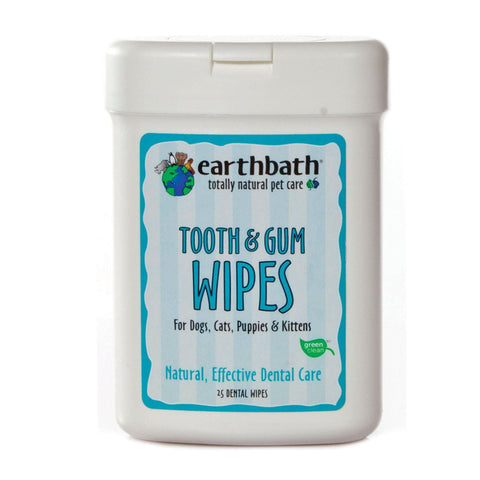 EARTHBATH Tooth & Gum Wipes With Lite Peppermint Flavour 25pcs - My Cat and Co.