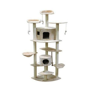 GO PET CLUB Cat Tree 84Wx56Lx183H