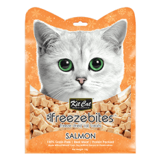 KITCAT Freezebites Dried Salmon 15g - My Cat and Co.