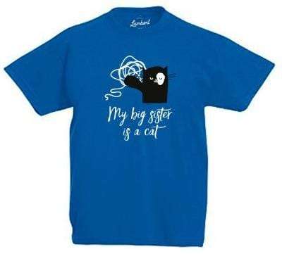 BIG SISTER Kid's T-Shirt Azure Blue - My Cat and Co.