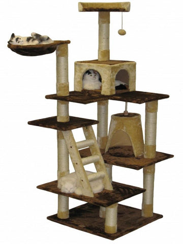 GO PET CLUB Cat Tree Condo Furniture - My Cat and Co.