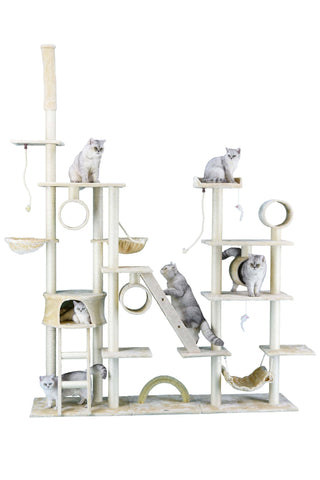"GO PETCLUB 108"" Cat Tree Condo Furniture - My Cat and Co."
