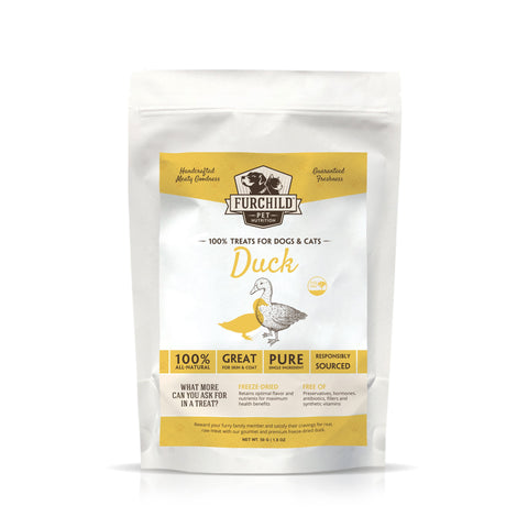 FURCHILD Premium Freeze-Dried Pasture-Raised Duck Breast Raw Pet Treats - My Cat and Co.