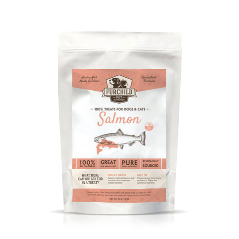 FURCHILD Premium Freeze-Dried Wild-Caught Salmon Raw Pet Treats - My Cat and Co.