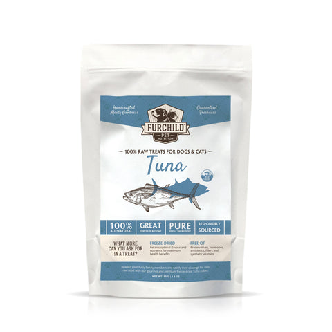 FURCHILD Premium Freeze-Dried Wild-Caught Tuna Raw Pet Treats - My Cat and Co.