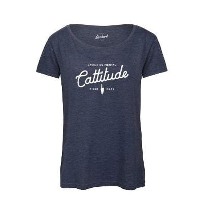CATTITUDE Women's Round Neck T-Shirt - My Cat and Co.