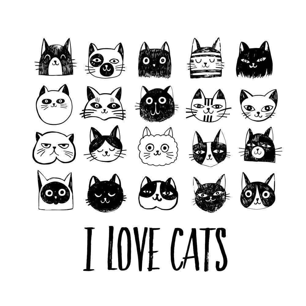 I LOVE CATS Short Sleeve Bodysuit - My Cat and Co.